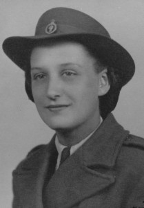 Mum in her early 20s; wearing her Land Army uniform