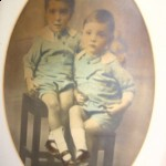 dad at the age of two with his brother Wilfred